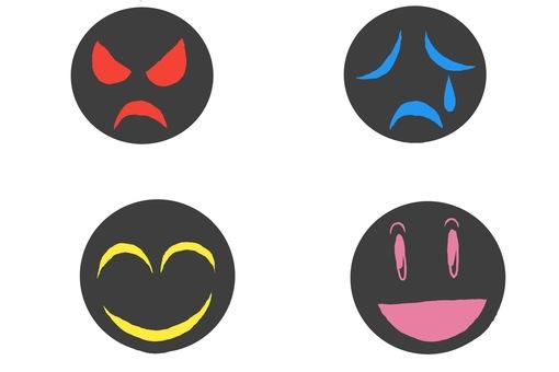 희로애락 인간 표정 스탬프 세트