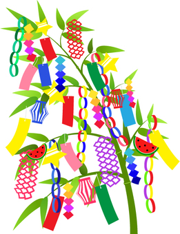 Tanabata _ Bamboo decorated