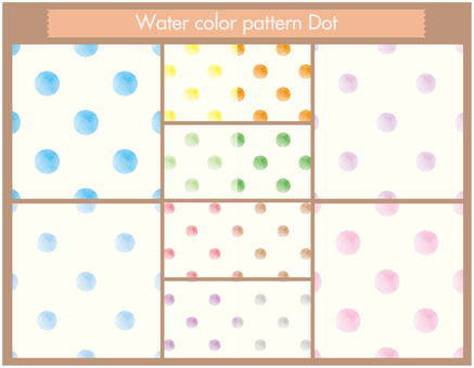 Watercolor pattern _ dot