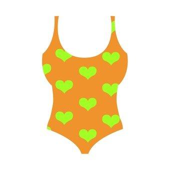 Heart pattern swimwear