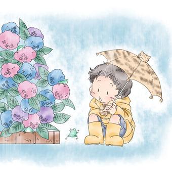 Hydrangea and Children