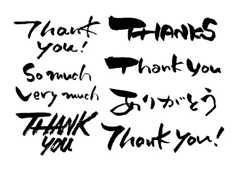 Thank you various writing characters