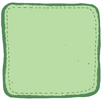 Green comment Flake seal (square)