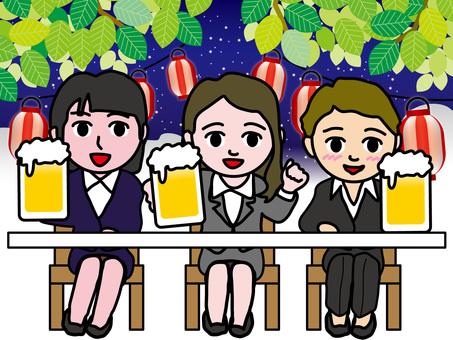 Drinking party (1) Night beer garden
