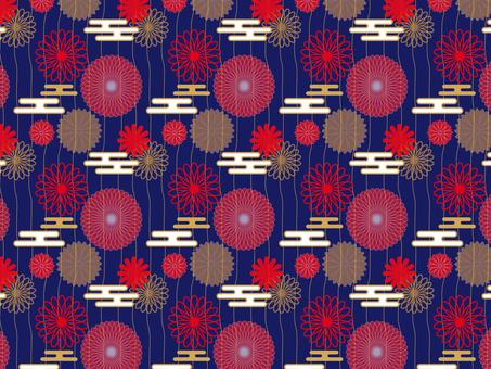 日本圖案花卉圖案