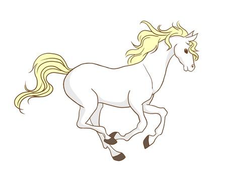 Running horse (Hakuba)