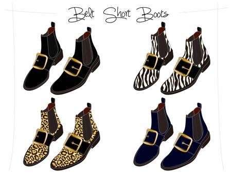 Belt Short Boots