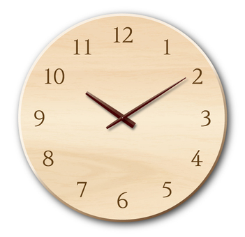Wall clock (wooden)