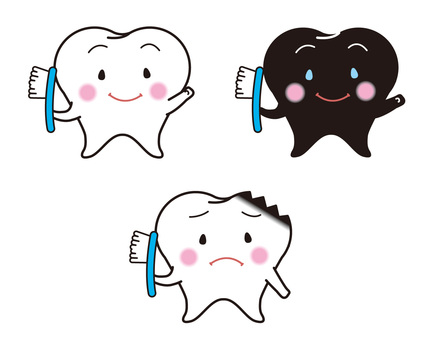White teeth and tooth decay