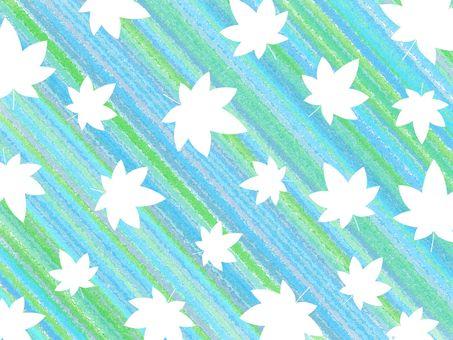 단풍 배경 소재 03 / 파랑