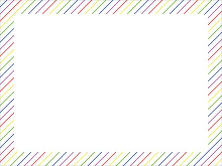 5 색 대각선 줄무늬 프레임 1