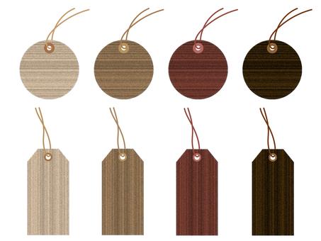 Woodgrain style hang tag material set