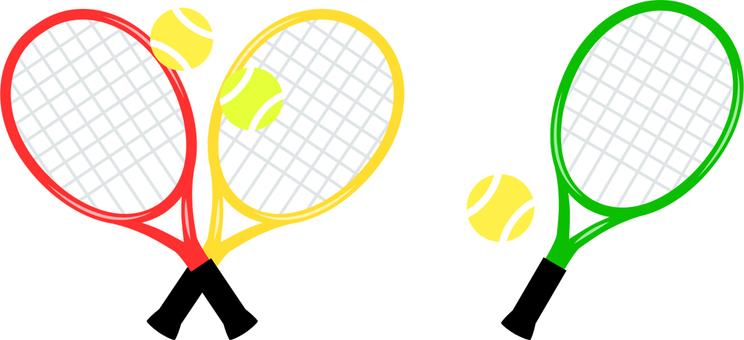 網球拍,球
