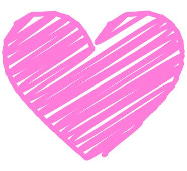 Graffiti style heart (pink)