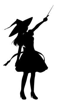 Magical girl silhouette (hat)