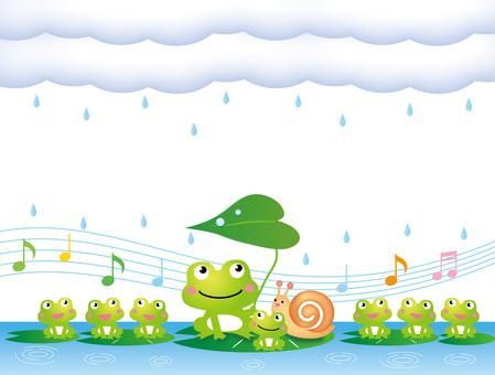 梅雨の季節のかえるの合唱その2
