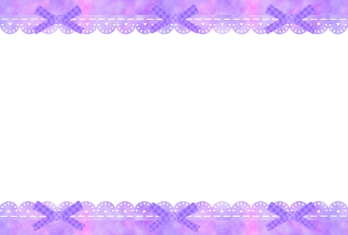 Lace and ribbon frame (purple)