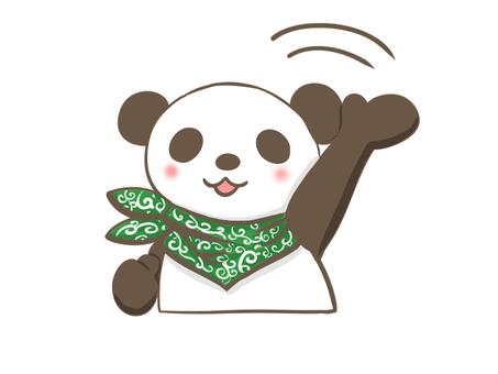 Panda waving hand