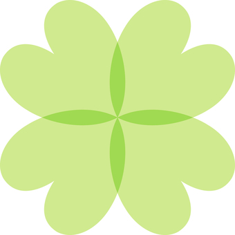 Heart _ four leaves _ green