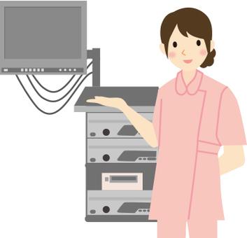 Nurse and medical equipment