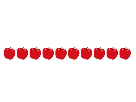 Apple decorative border 1