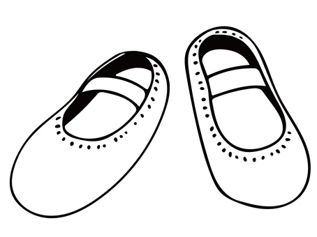 Illustration of ballet shoes