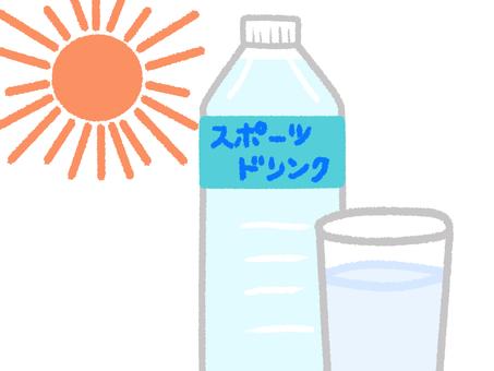暑い日には水分補給を!!