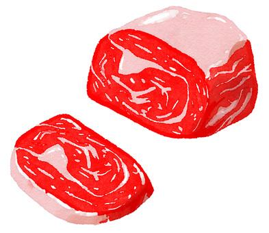 水彩成分系列肉