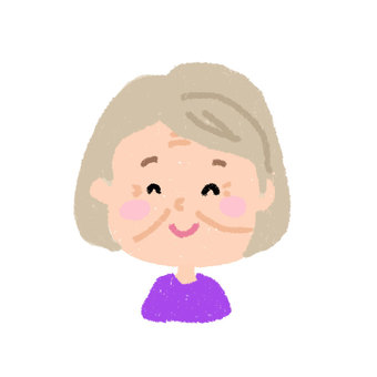 Face icon _ grandmother